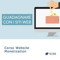 Corso Website Monetization