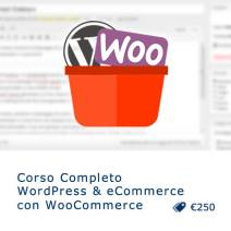 Corso WordPress e WooCommerce