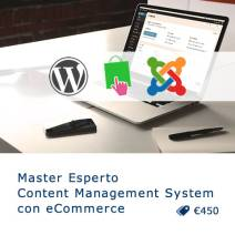 Master online Esperto Content Management System con eCommerce